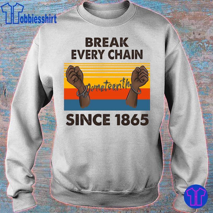 Break every chain since 1865 vintage s sweater