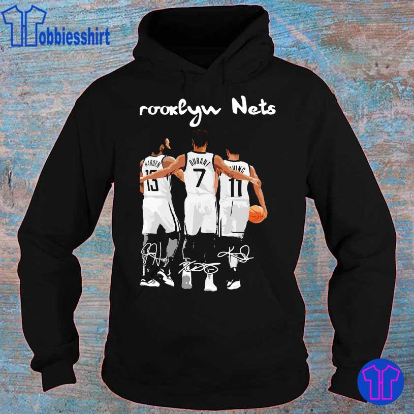 Brooklyn Nets Harden 13 Durant 7 Irving's 11 signatures s hoodie
