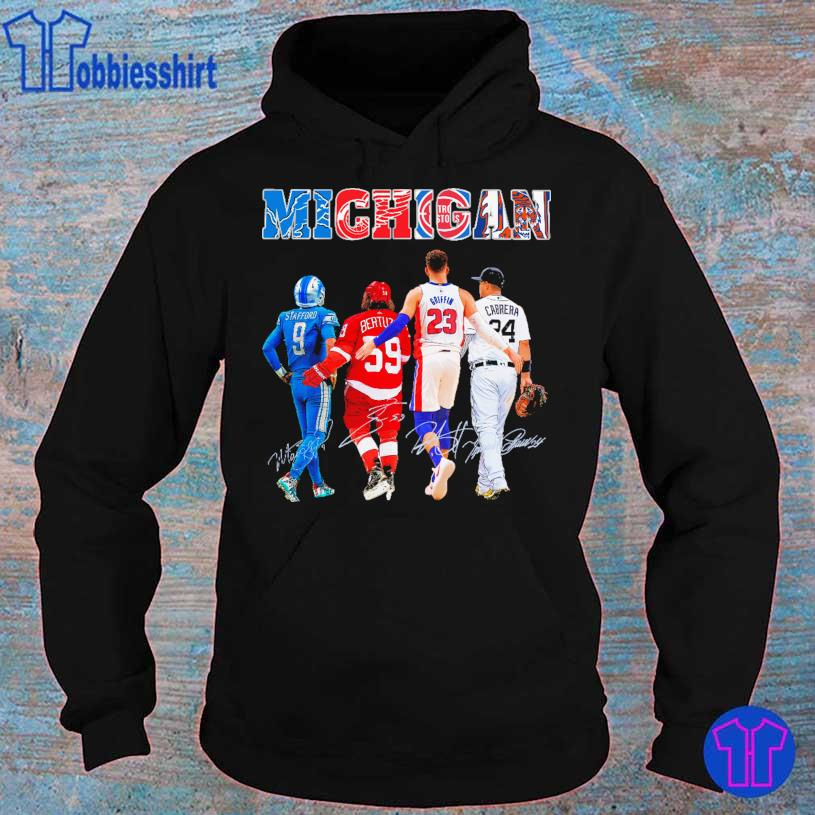 Detroit Lions Detroit Red Official Wings Detroit Pistons Detroit Tigers Stafford Griffin Cabrera signatures s hoodie