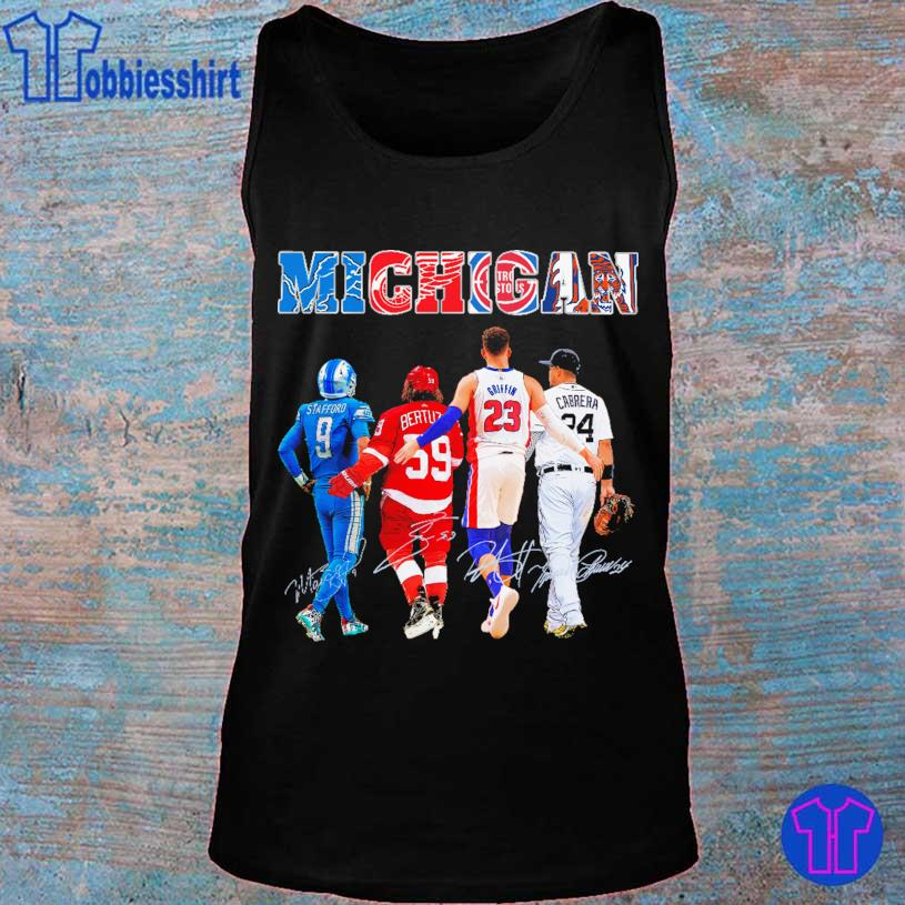 Detroit Lions Detroit Red Official Wings Detroit Pistons Detroit Tigers Stafford Griffin Cabrera signatures s tank top