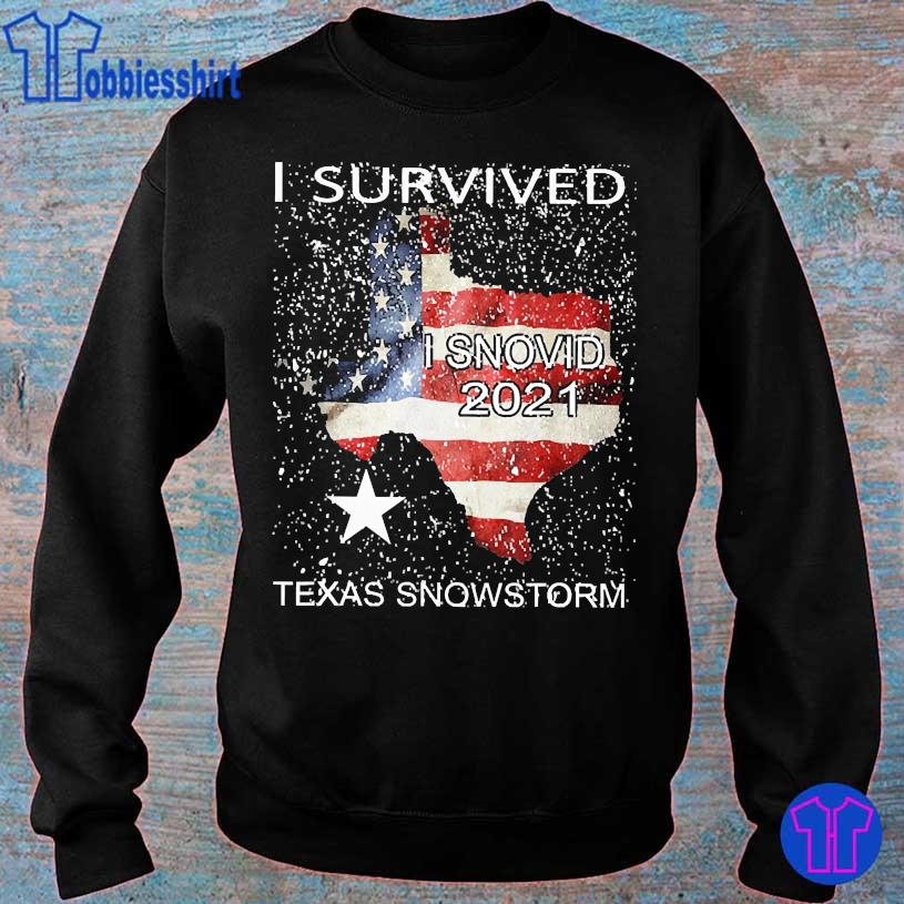 I survived snovid 2021 Texas snowstorm American Flag s sweater
