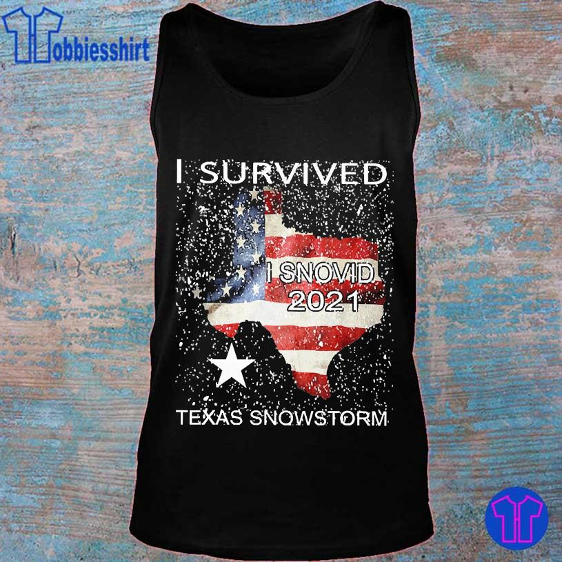 I survived snovid 2021 Texas snowstorm American Flag s tank top