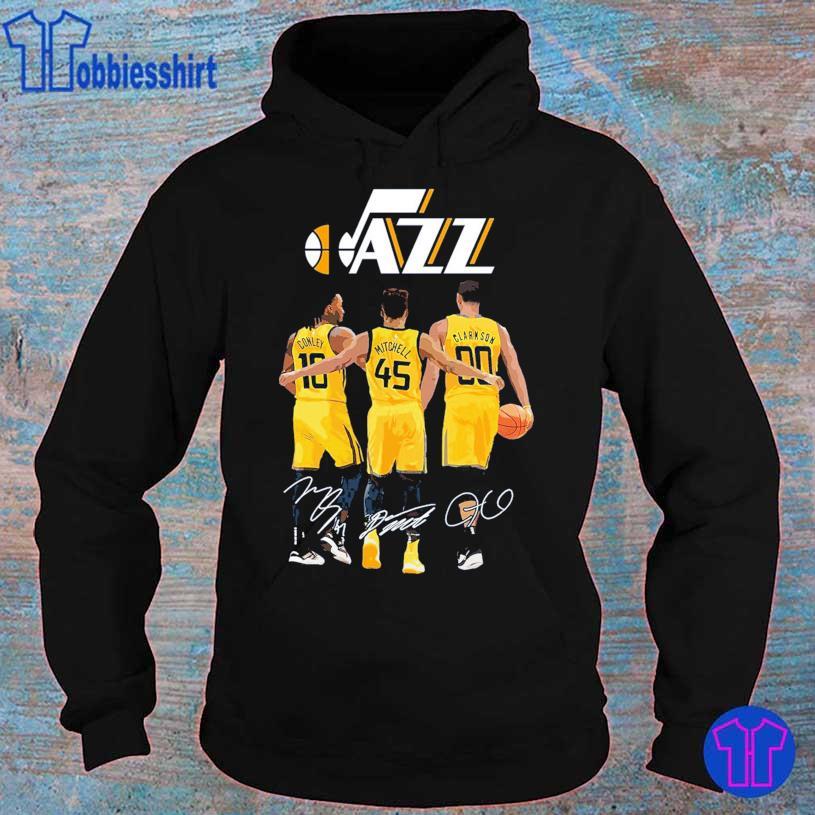 Jazz Conley 10 Mitchell 45 Clarkson 90 signatures s hoodie