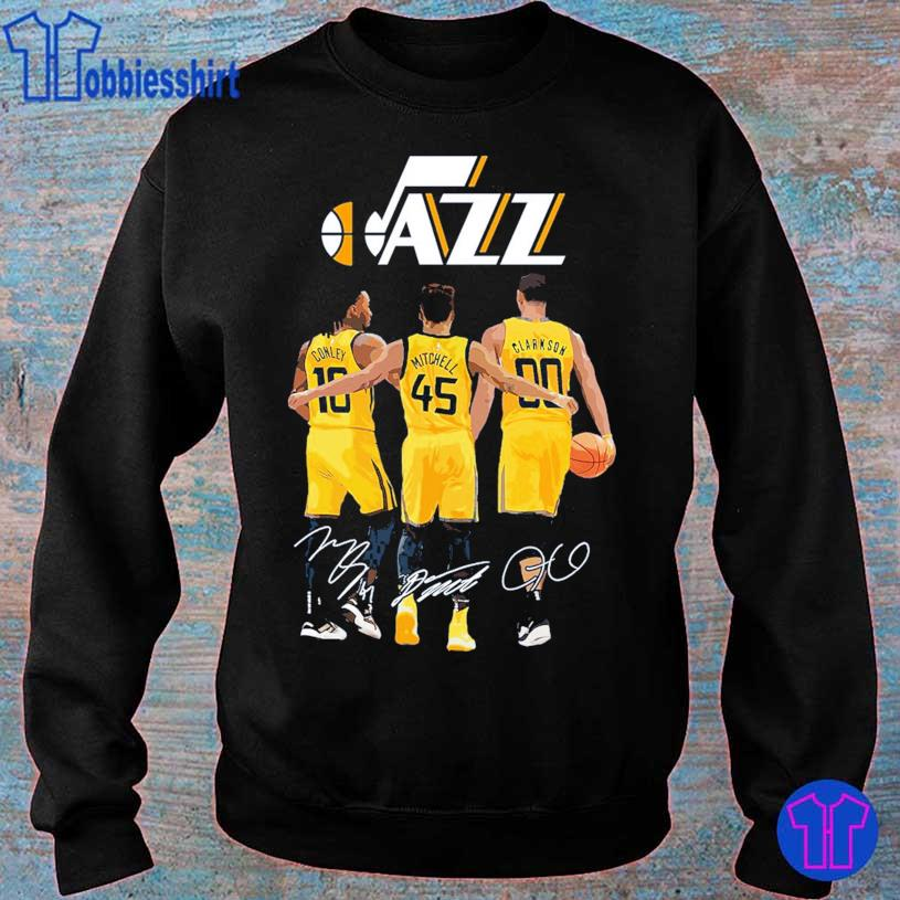 Jazz Conley 10 Mitchell 45 Clarkson 90 signatures s sweater