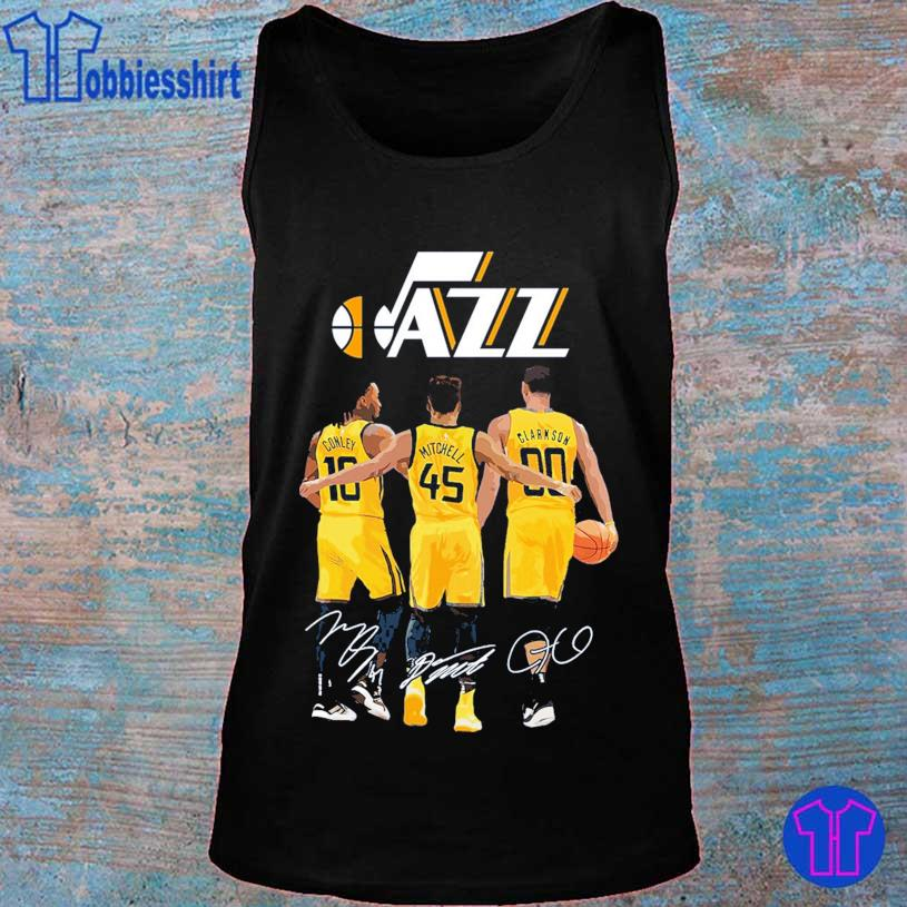 Jazz Conley 10 Mitchell 45 Clarkson 90 signatures s tank top