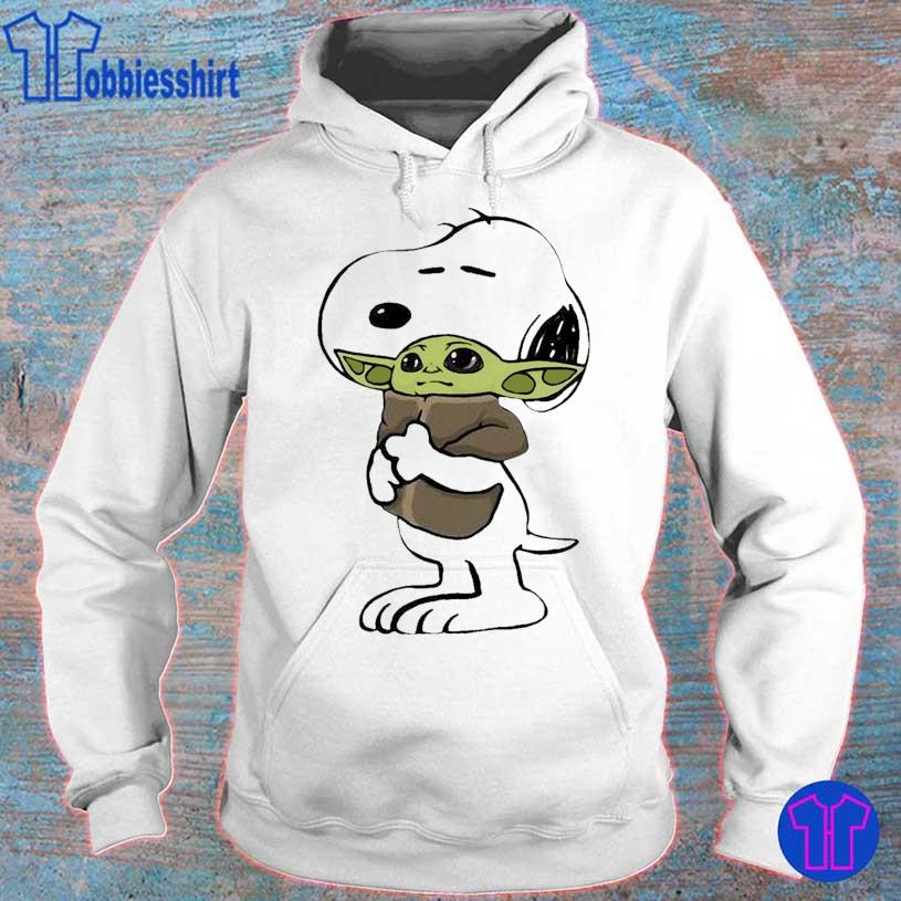 Official 2021 the Snoopy hug Baby Yoda s hoodie