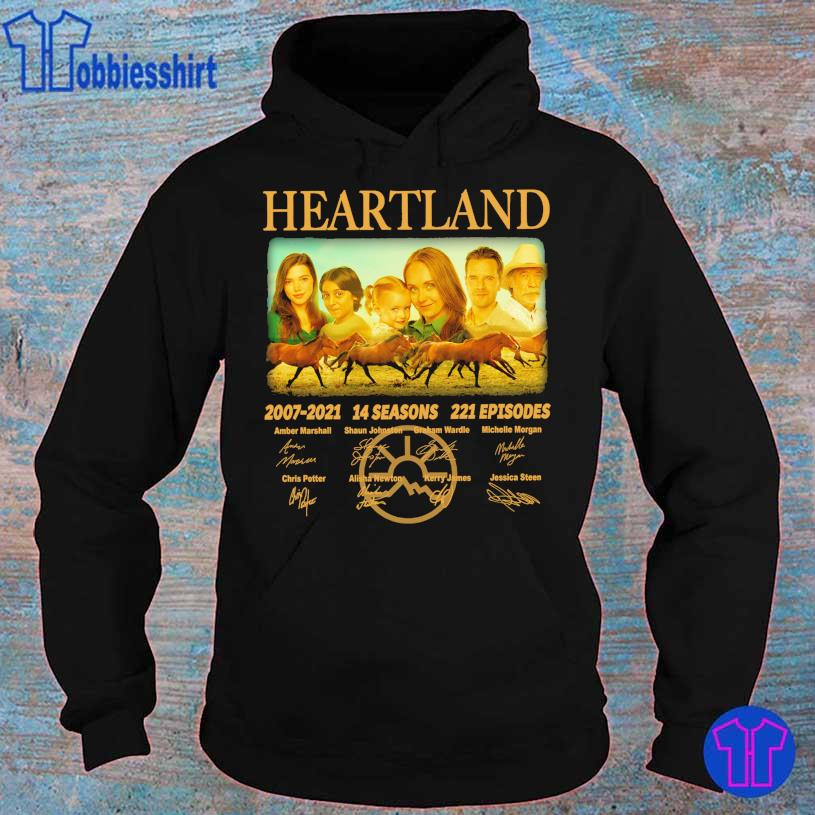 Official Heartland 2007 2021 14 seasons 221 episodes Amber Marshall signatures s hoodie