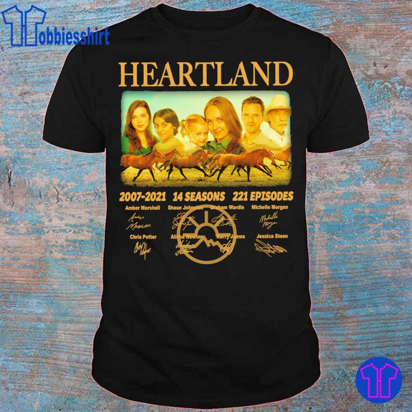 Official Heartland 2007 2021 14 seasons 221 episodes Amber Marshall signatures shirt