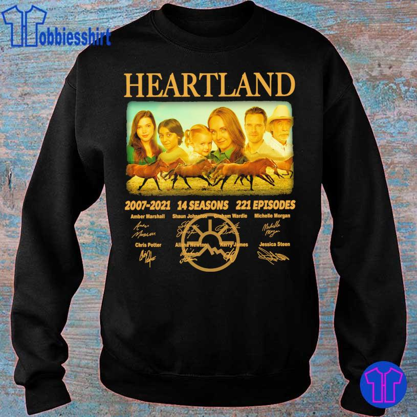 Official Heartland 2007 2021 14 seasons 221 episodes Amber Marshall signatures s sweater