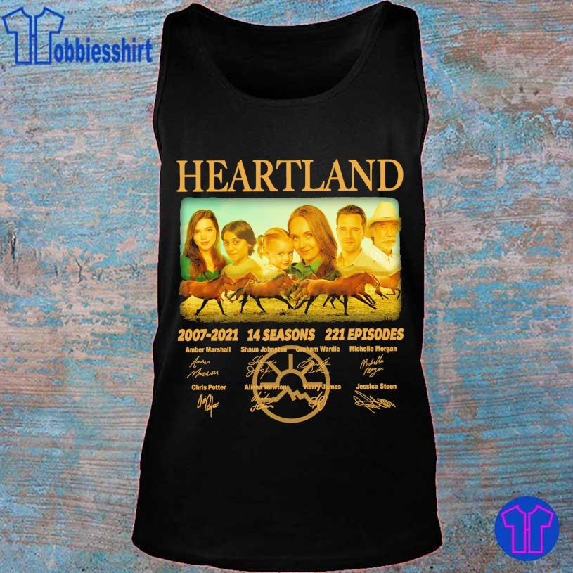 Official Heartland 2007 2021 14 seasons 221 episodes Amber Marshall signatures s tank top