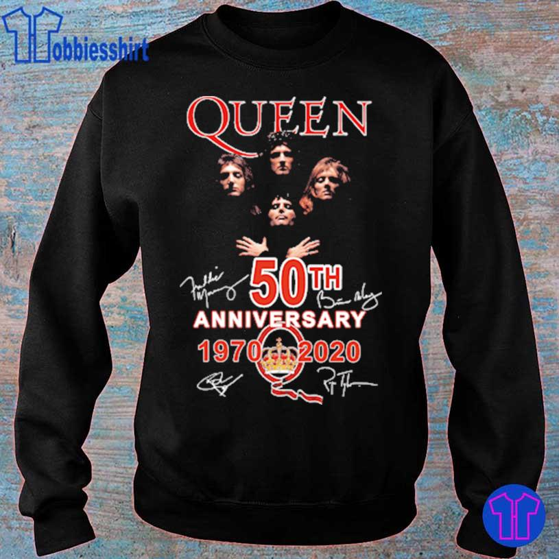 Official Queen 50TH Anniversary 1970 2020 signatures s sweater