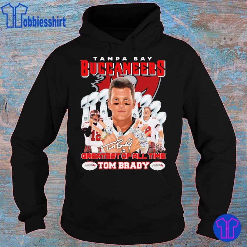 Tampa Bay Buccaneers Greatest of all time Tom Brady 12 signature s hoodie