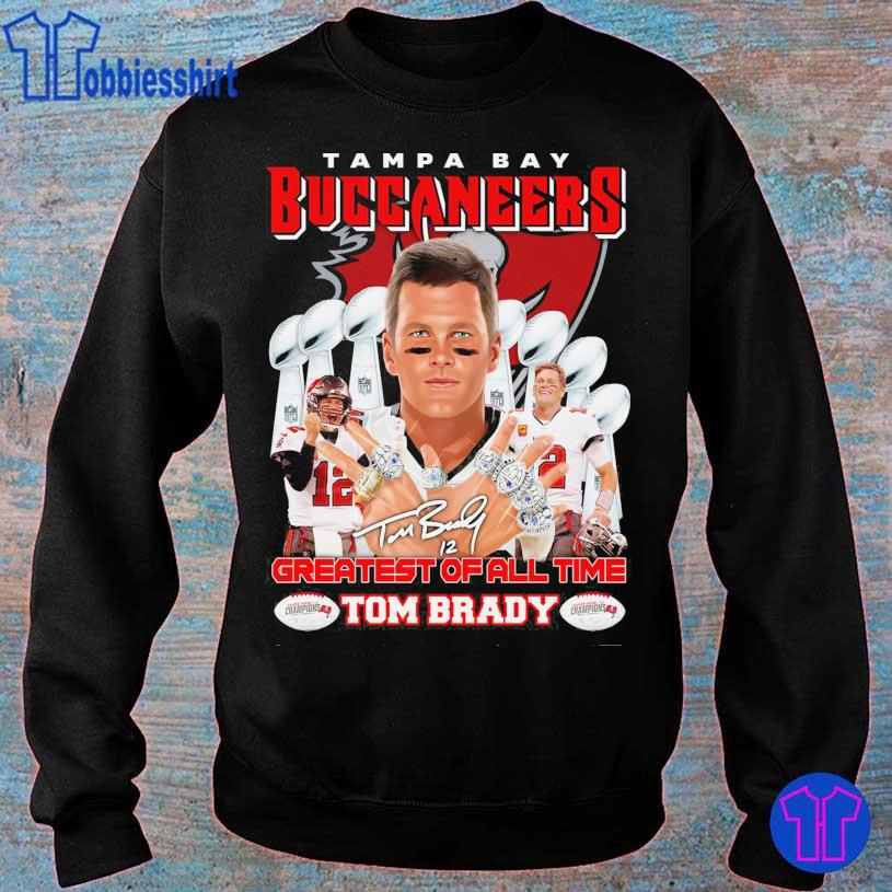 Tampa Bay Buccaneers Greatest of all time Tom Brady 12 signature s sweater