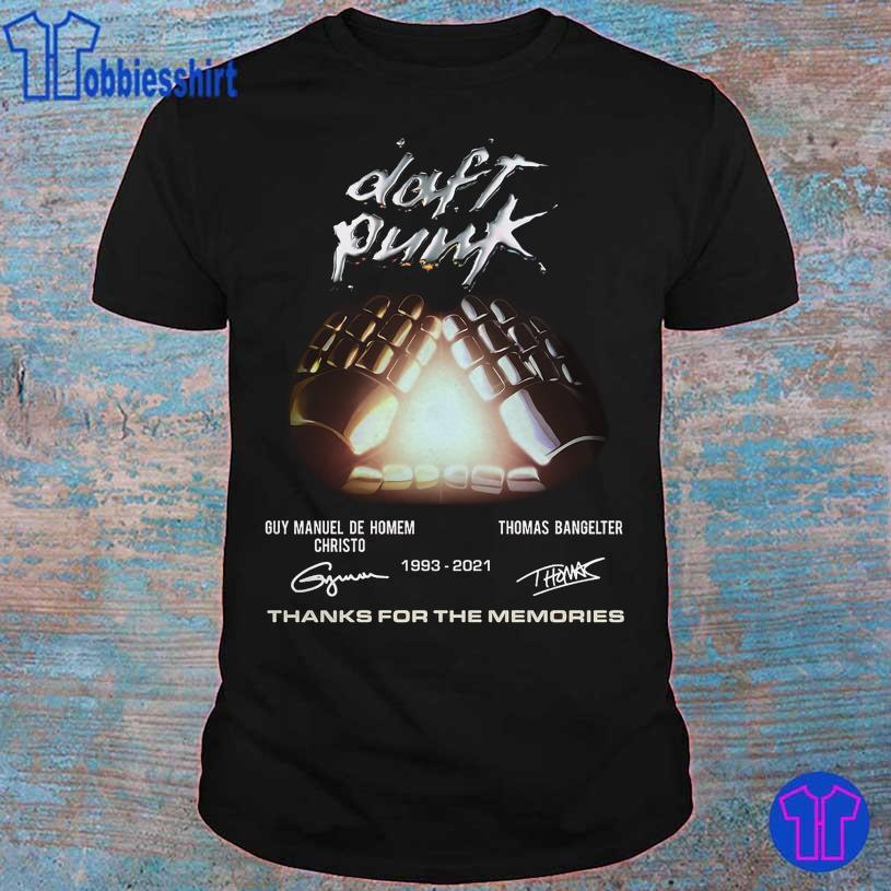 Daft Punk Guy Manuel De Homem Christo Thomas Bangelter 1993 2021 signatures shirt