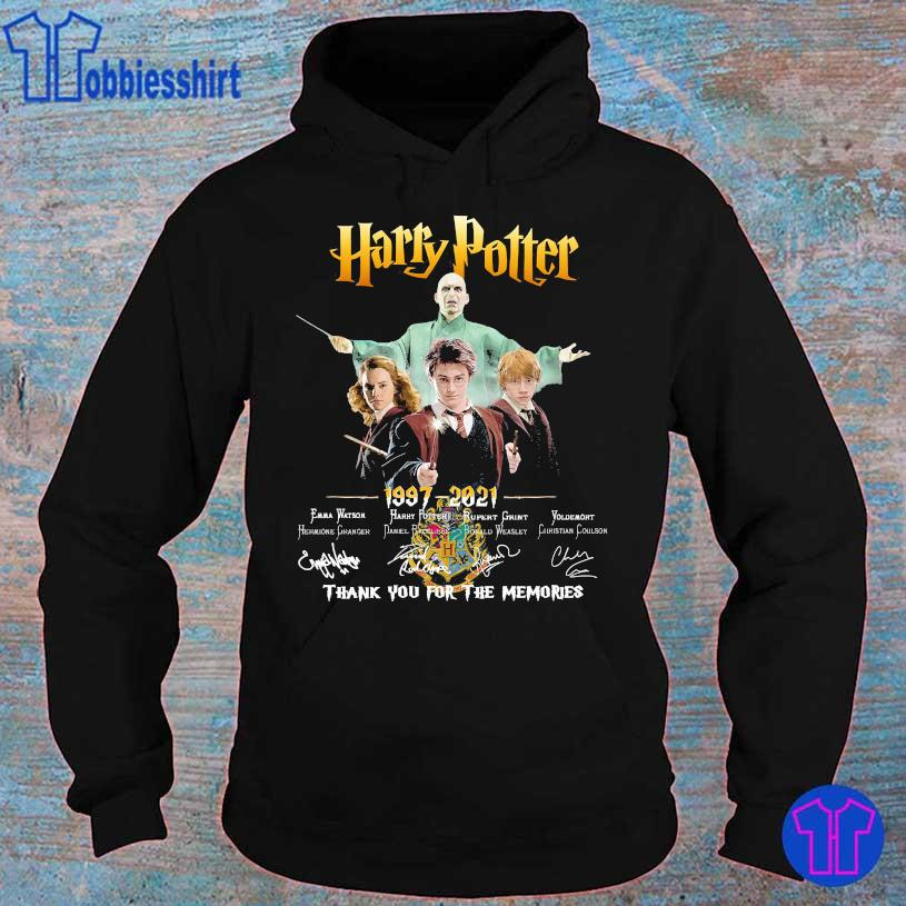 Harry Potter 1997 2021 thank You for the memories signatures hoodie