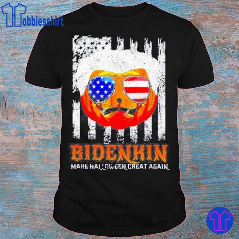 Trending Biden Pumpkin Make Halloween Great Again Biden In USA Tee Shirt