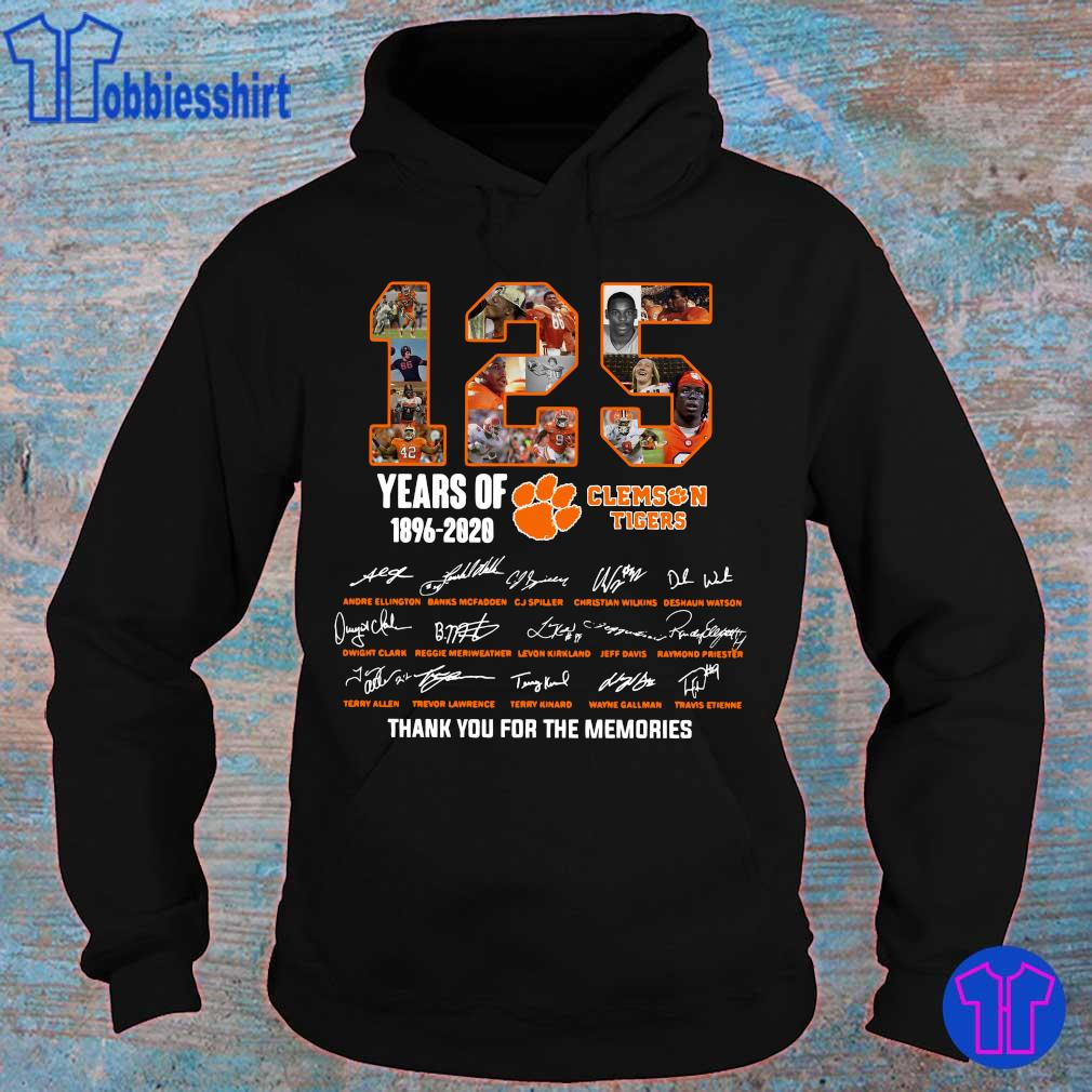 Official 125 years of 1896 2020 Clemson Tigers thank you for the memories s hoodie