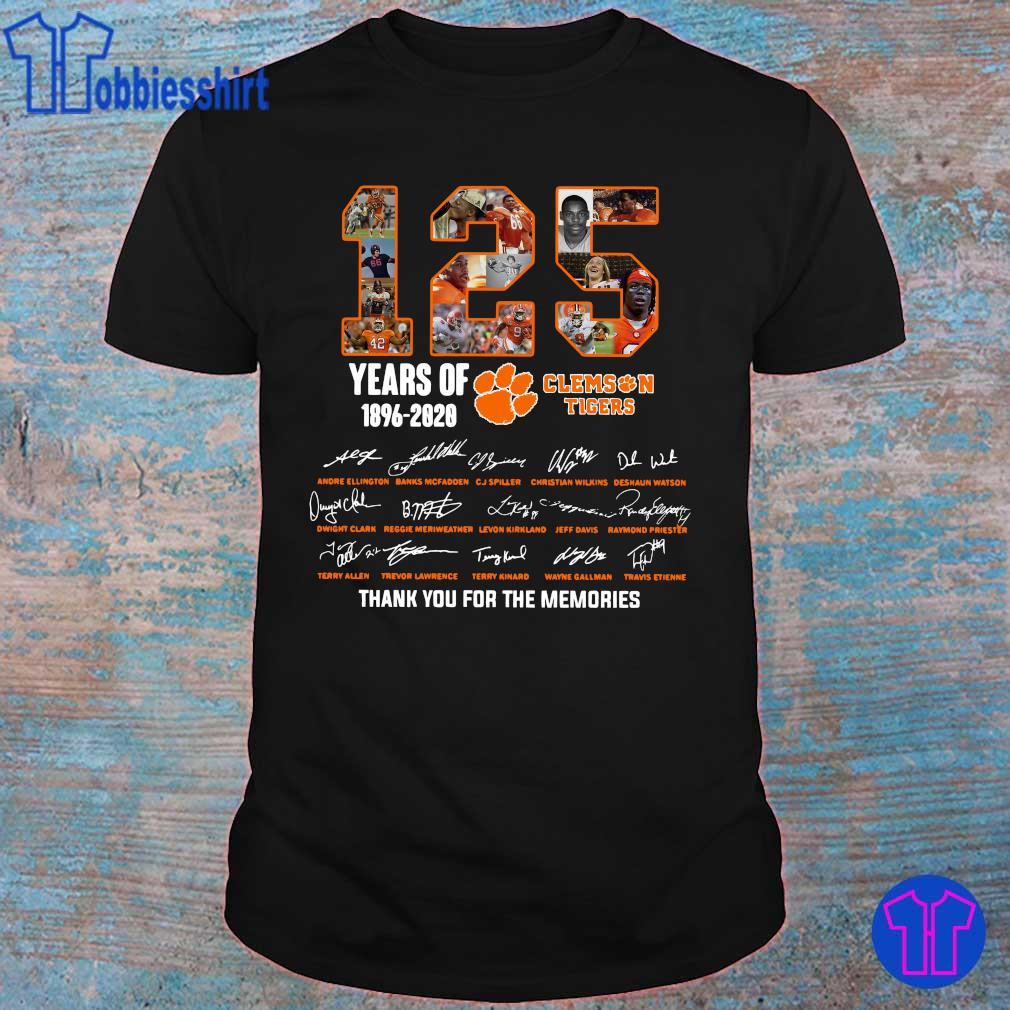 Official 125 years of 1896 2020 Clemson Tigers thank you for the memories shirt