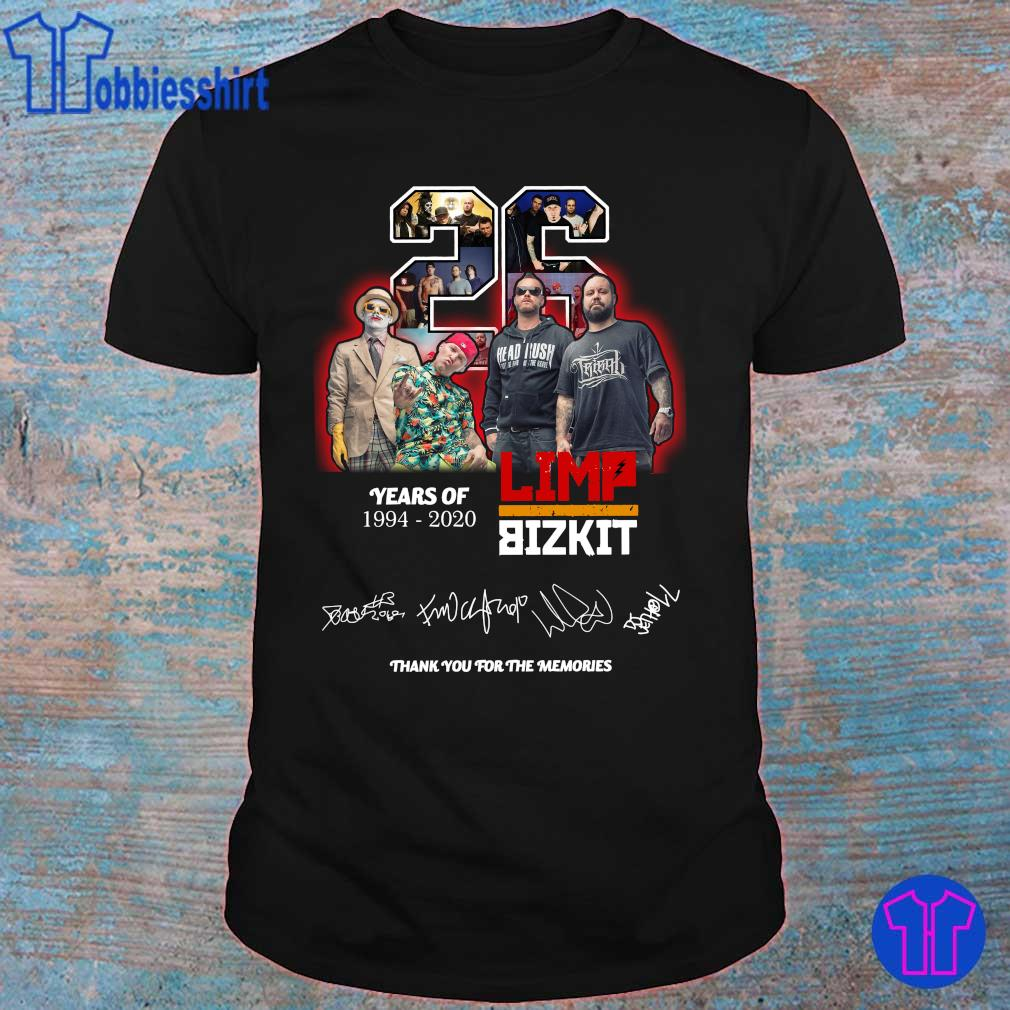 Official 26 years of 1994 2020 Limp Bizkit thank you for the memories shirt