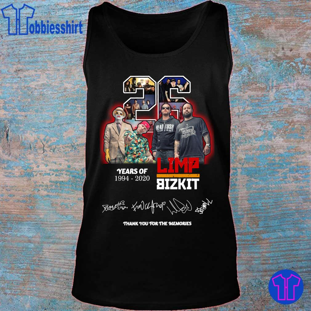 Official 26 years of 1994 2020 Limp Bizkit thank you for the memories s tank top