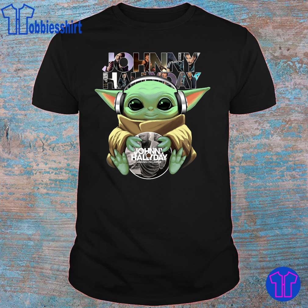 Official Baby Yoda hug Johnny Hallyday shirt