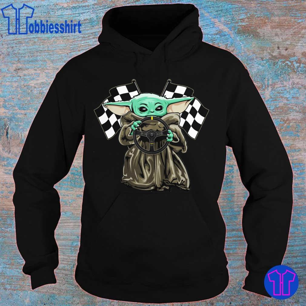 Official Baby Yoda hug Racing logo s hoodie