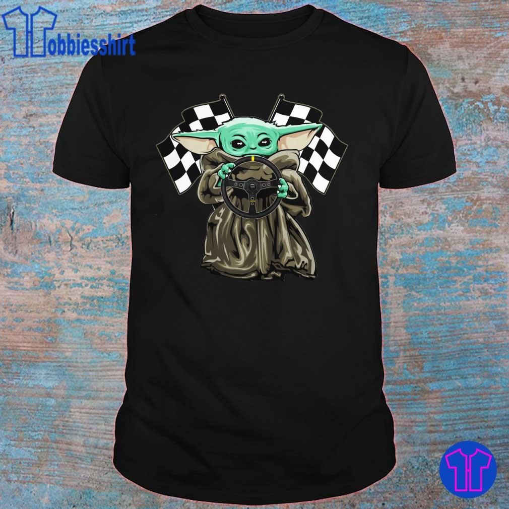 Official Baby Yoda hug Racing logo shirt