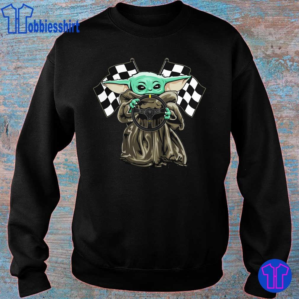 Official Baby Yoda hug Racing logo s sweater