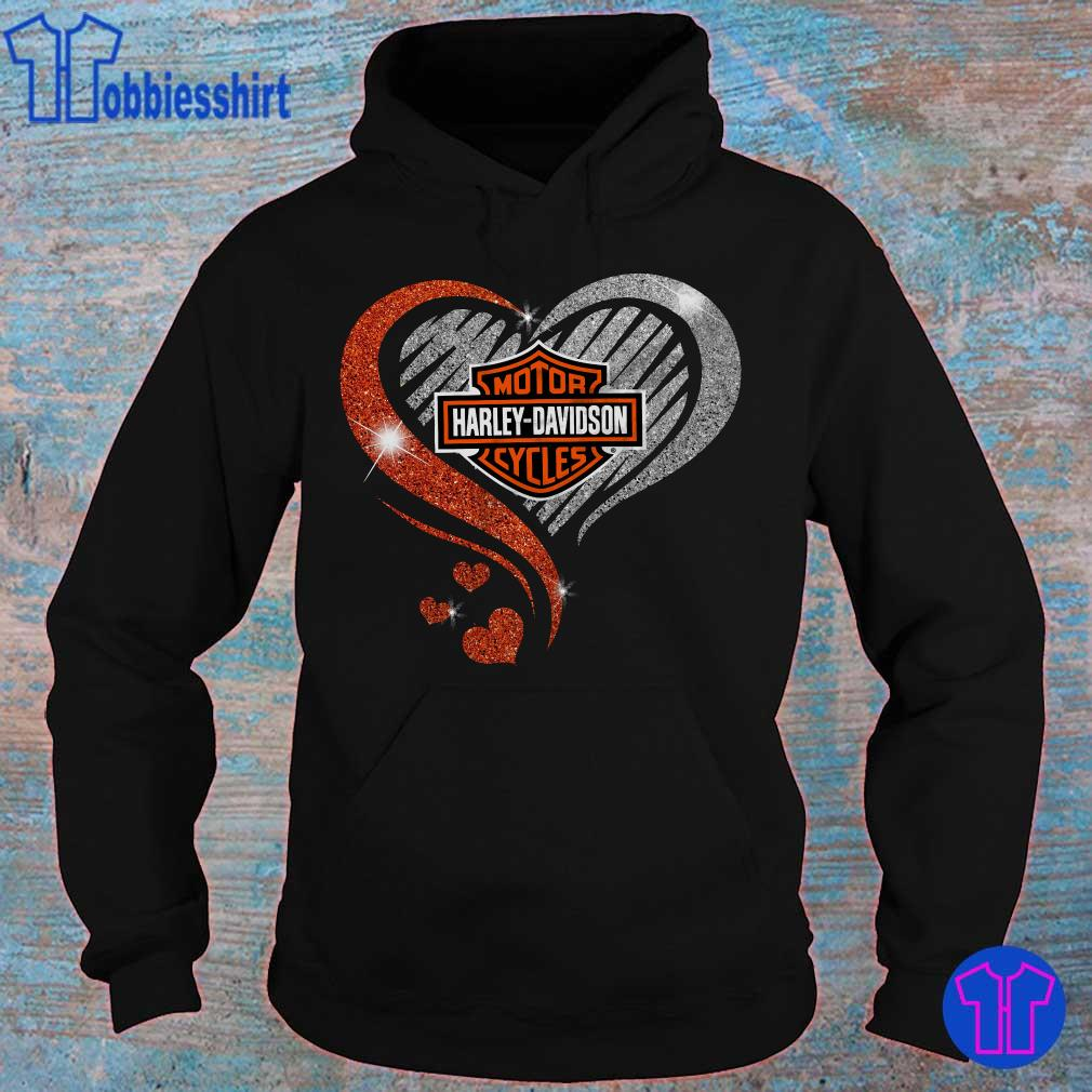 Official Diamond Heart motor Harley Davidson s hoodie