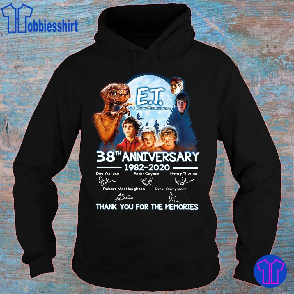Official E T the extra terrestrial 38th anniversary 1982 2020 thank you for the memories s hoodie