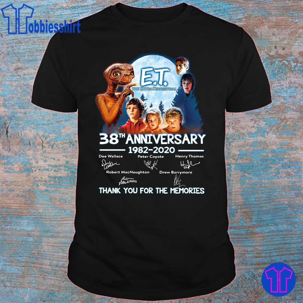 Official E T the extra terrestrial 38th anniversary 1982 2020 thank you for the memories shirt