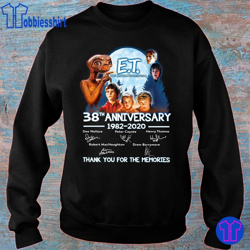Official E T the extra terrestrial 38th anniversary 1982 2020 thank you for the memories s sweater