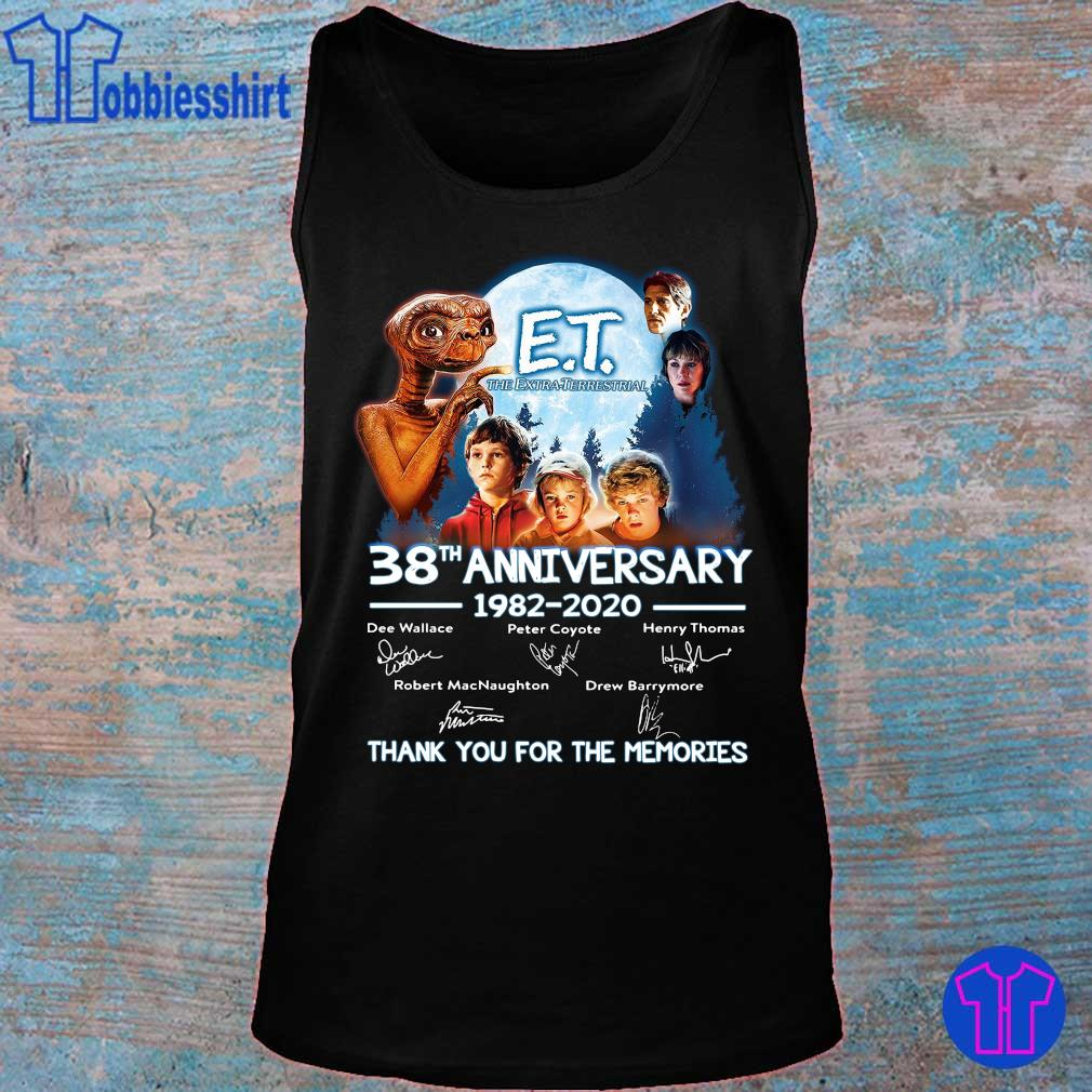 Official E T the extra terrestrial 38th anniversary 1982 2020 thank you for the memories s tank top