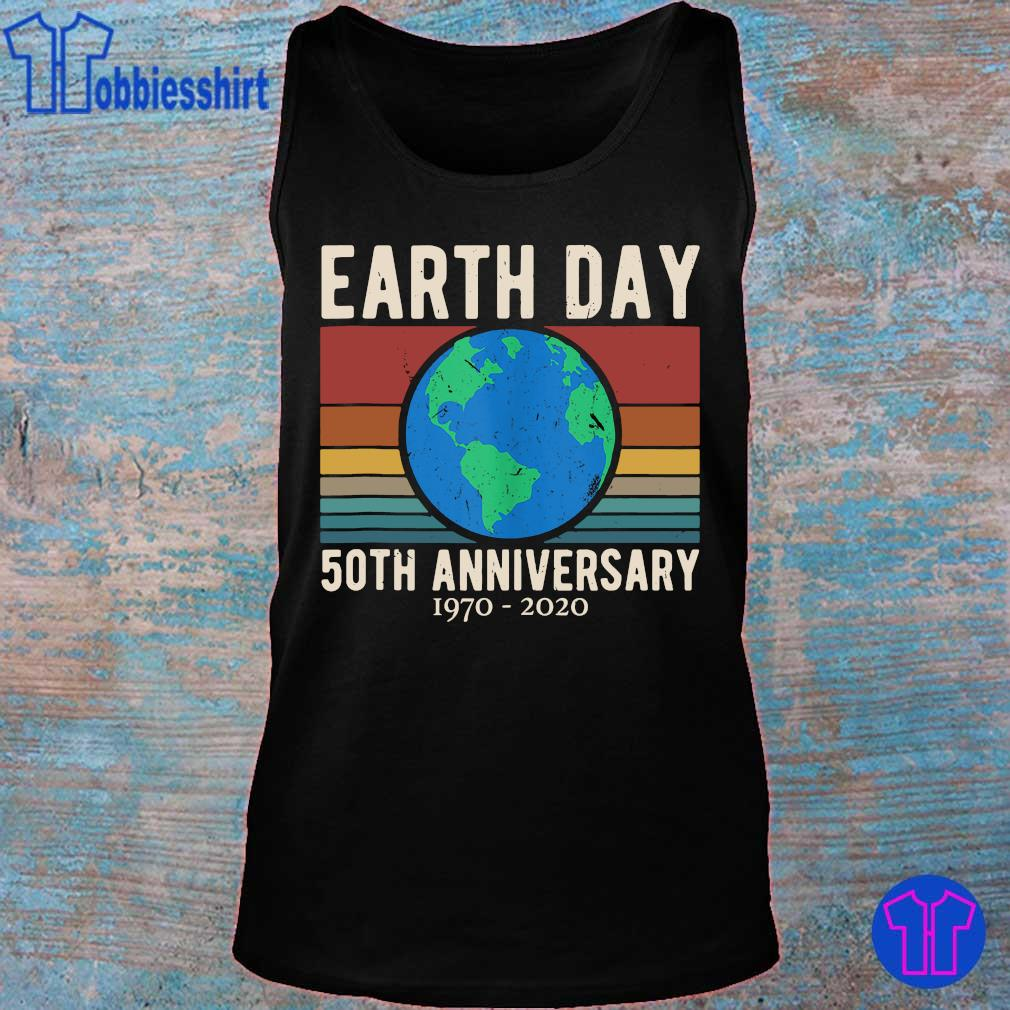 Official earth day 50th anniversary 1970 2020 vintage s tank top