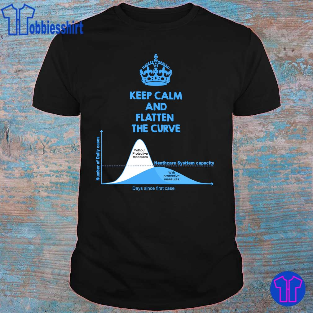 Official Keep Calm And Flatten The Curve Tee Shirt