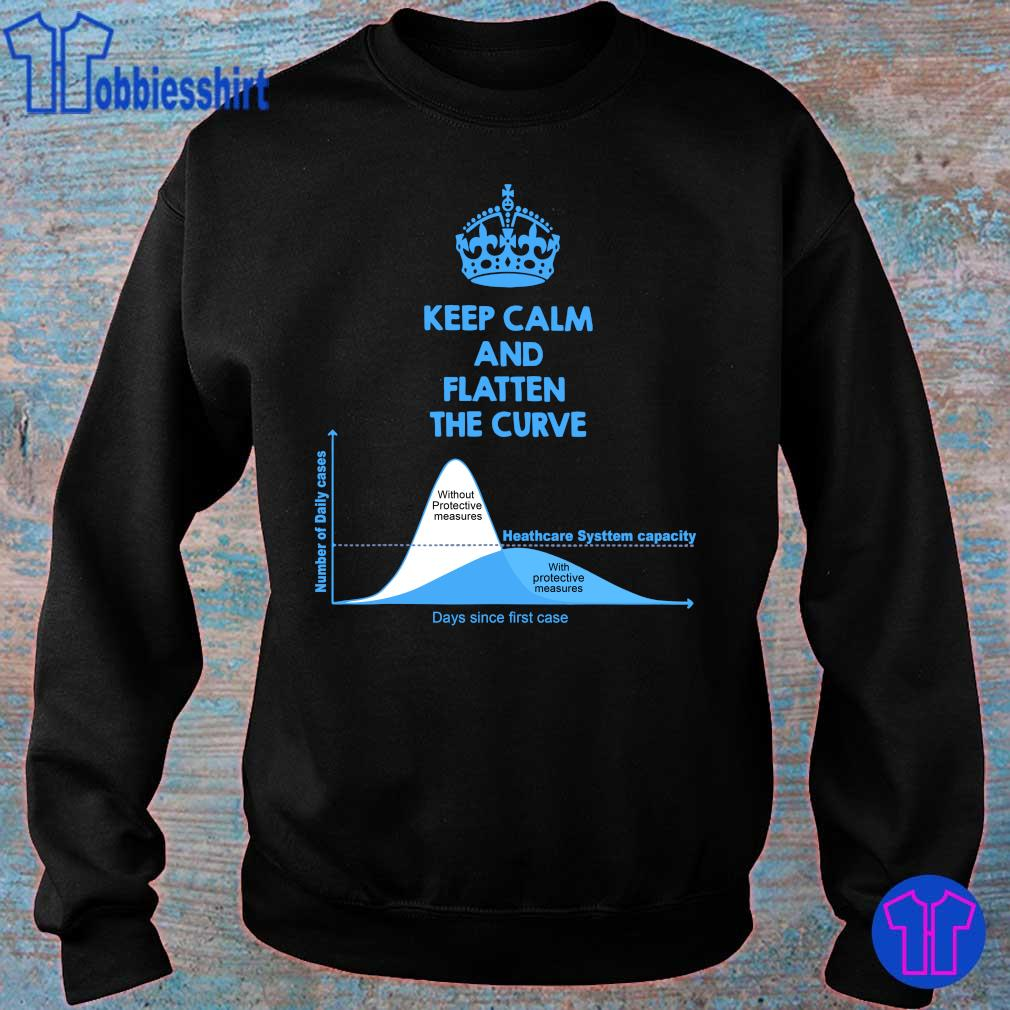 Official Keep Calm And Flatten The Curve Tee Shirt sweater