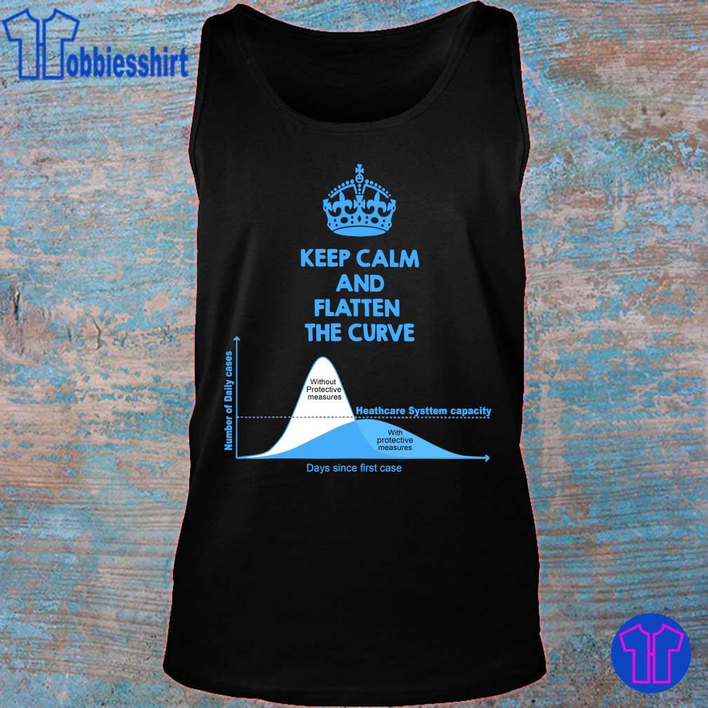Official Keep Calm And Flatten The Curve Tee Shirt tank top