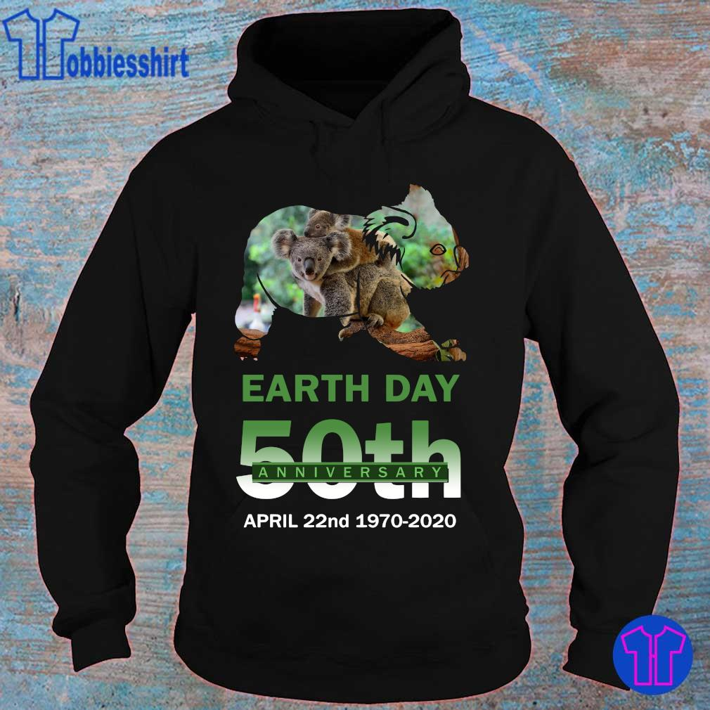 Official Koala earth day 50th anniversary s hoodie