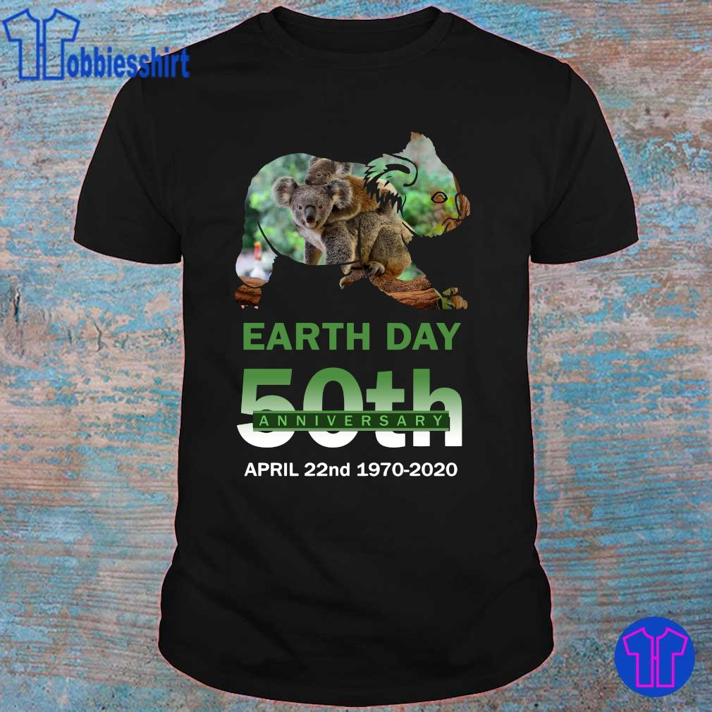 Official Koala earth day 50th anniversary shirt