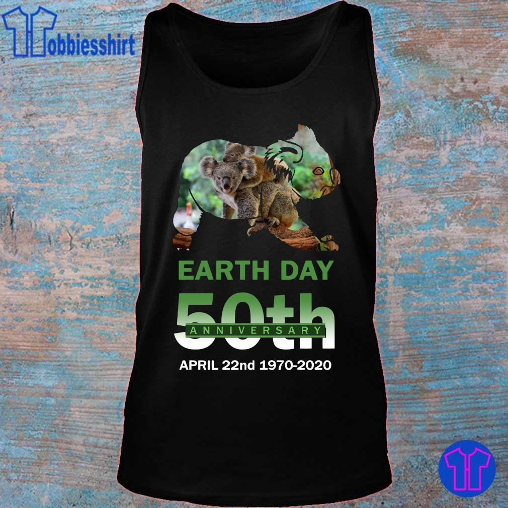 Official Koala earth day 50th anniversary s tank top