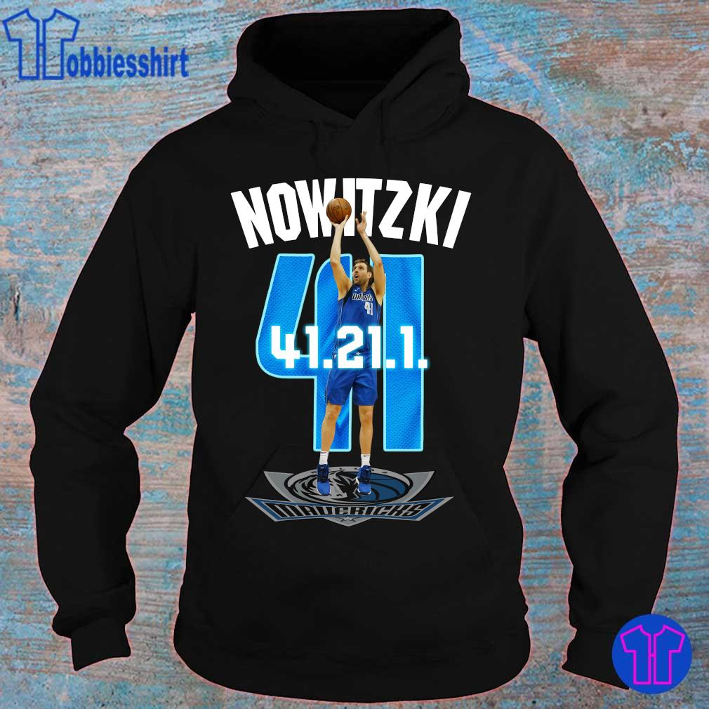 Official Mavericks Dirk Nowitzki 41 21 1 s hoodie