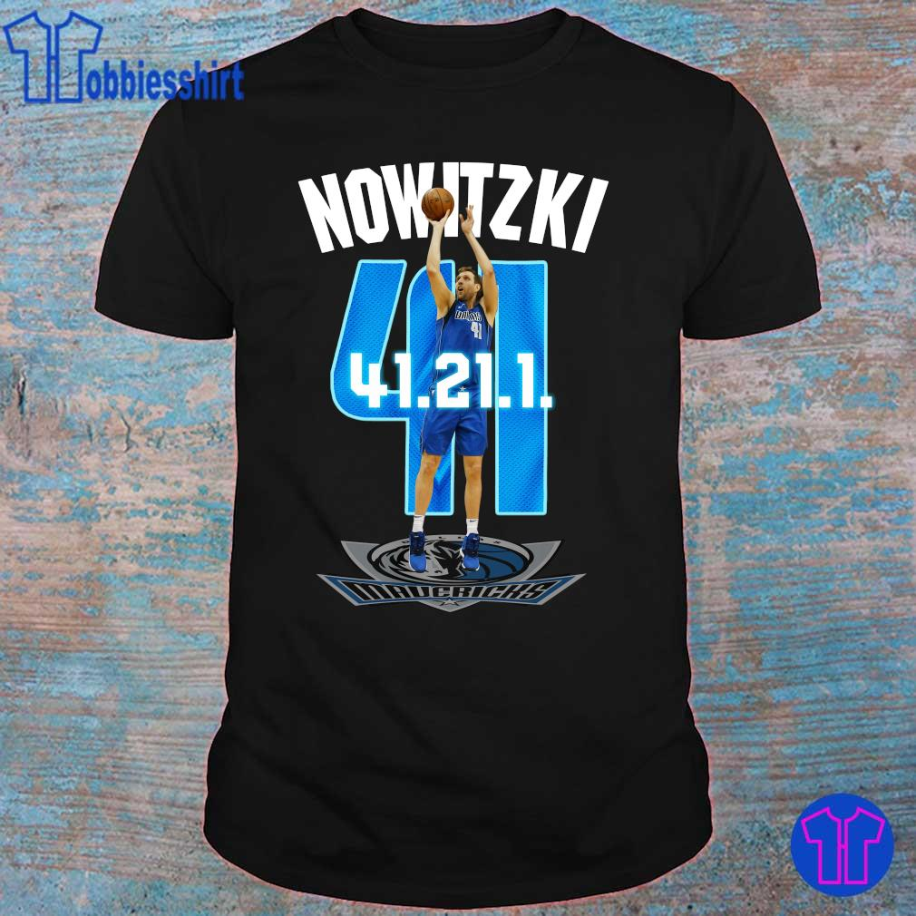 Official Mavericks Dirk Nowitzki 41 21 1 shirt