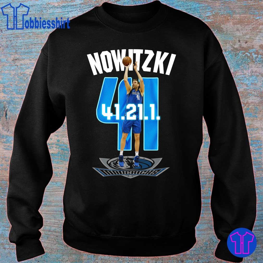 Official Mavericks Dirk Nowitzki 41 21 1 s sweater