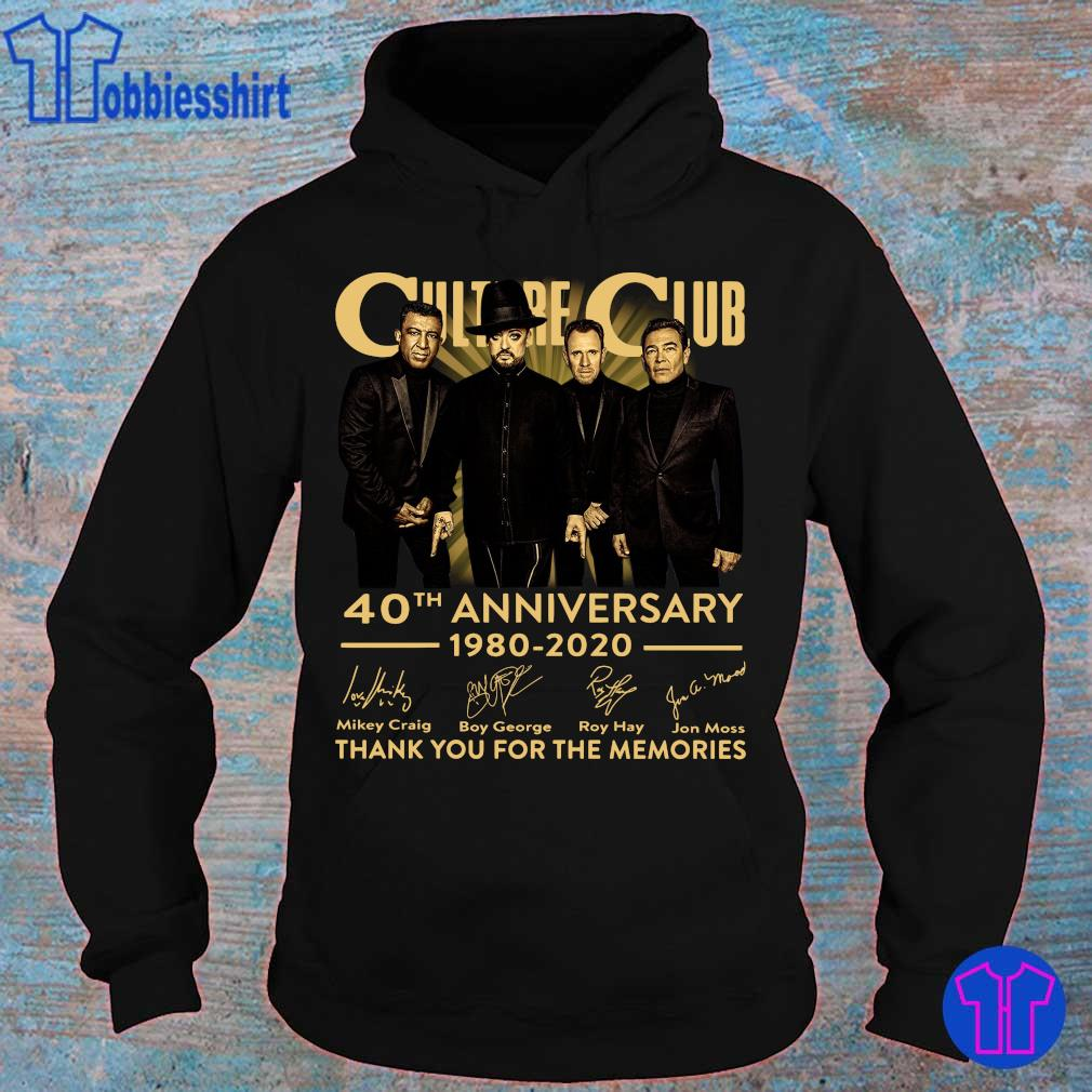 Official Culture Club 40th anniversary 1980 2020 thank You for the memories s hoodie