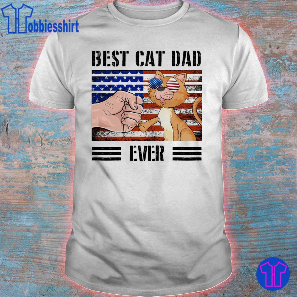 Best cat dad ever american vintage shirt