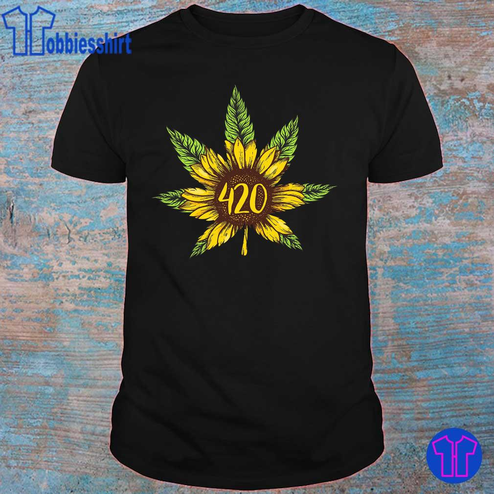 Cannabis 420 Sunflower Hippie shirt