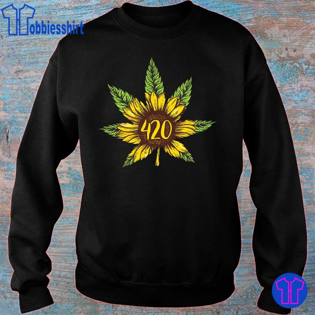 Cannabis 420 Sunflower Hippie s sweater