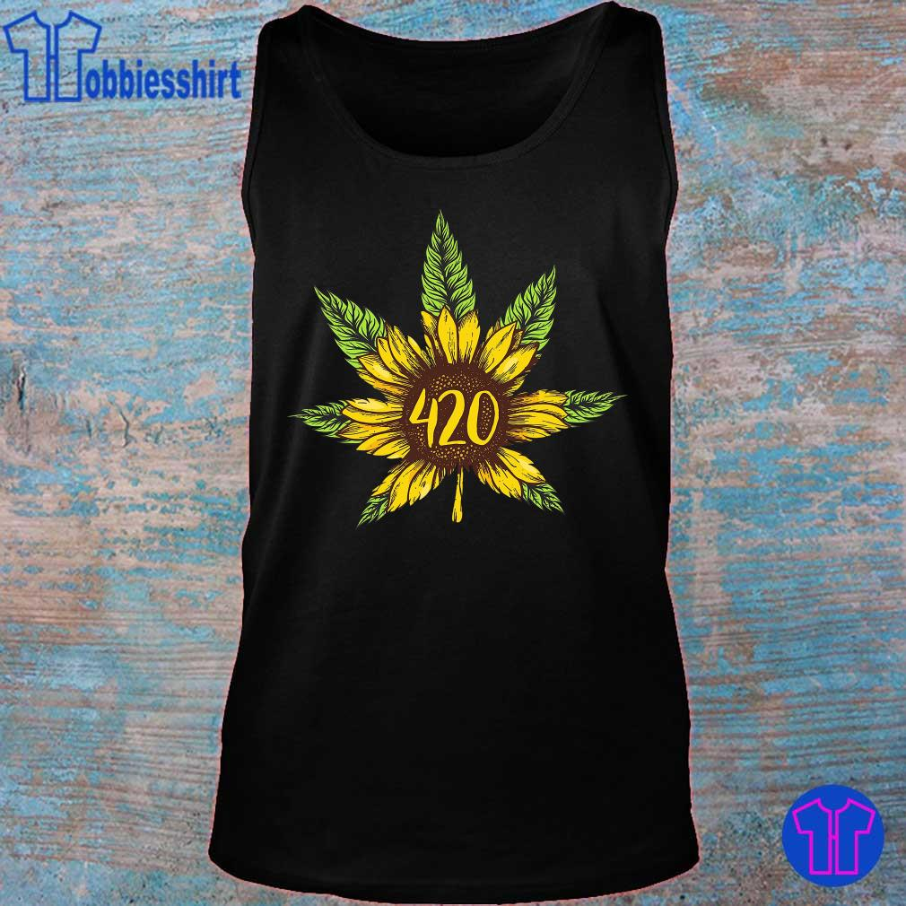 Cannabis 420 Sunflower Hippie s tank top