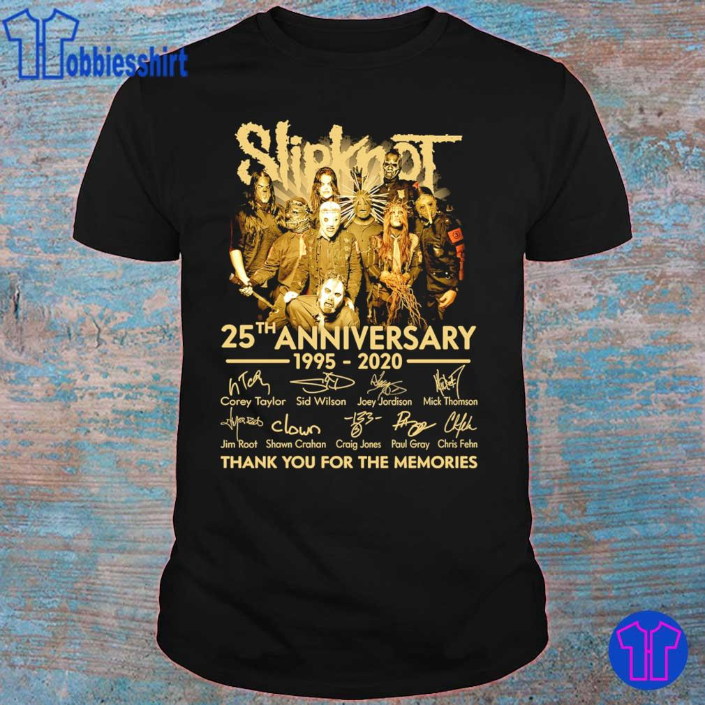 Slipknot 25th anniversary 1995 2020 thank you for the memories signatures shirt