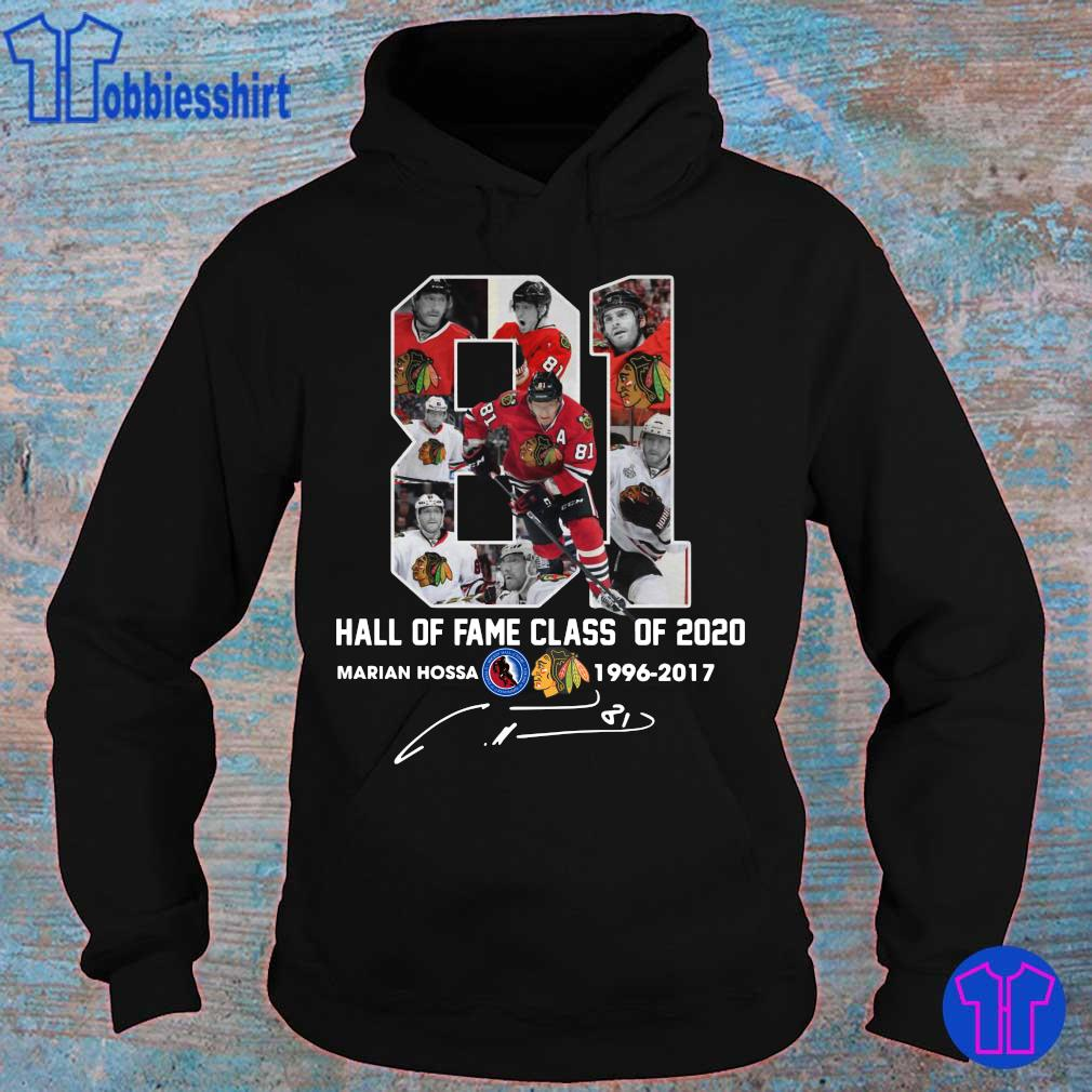 81 Hall of fame class of 2020 Marian Hossa Washington Redskins 1996 2017 signature s hoodie